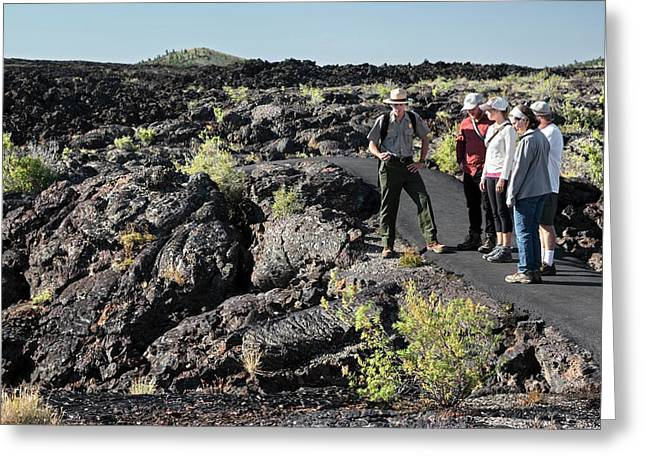 Craters Of The Moon Walking Tour Greeting Card