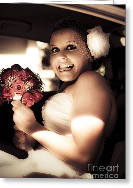 Crazy Bridezilla Greeting Card by Jorgo Photography - Wall Art Gallery