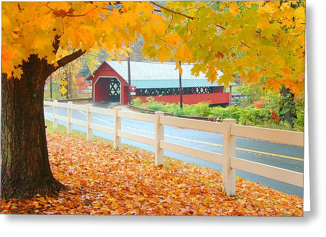 Greeting Card featuring the photograph Creamery Bridge by Paul Miller