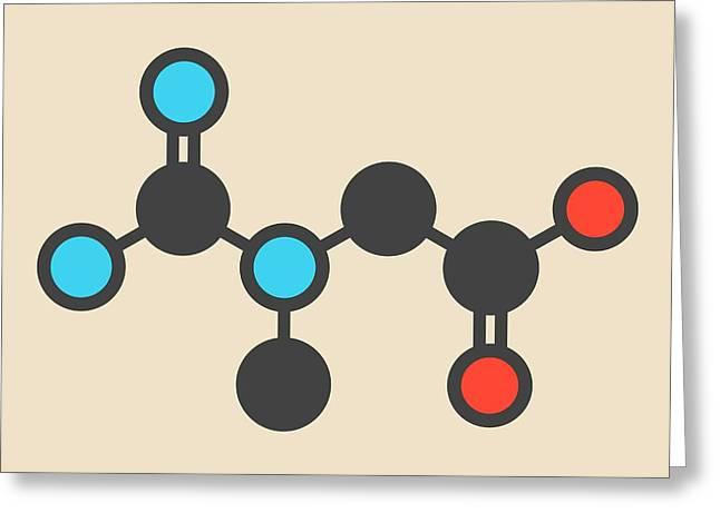 Creatine Molecule Greeting Card by Molekuul