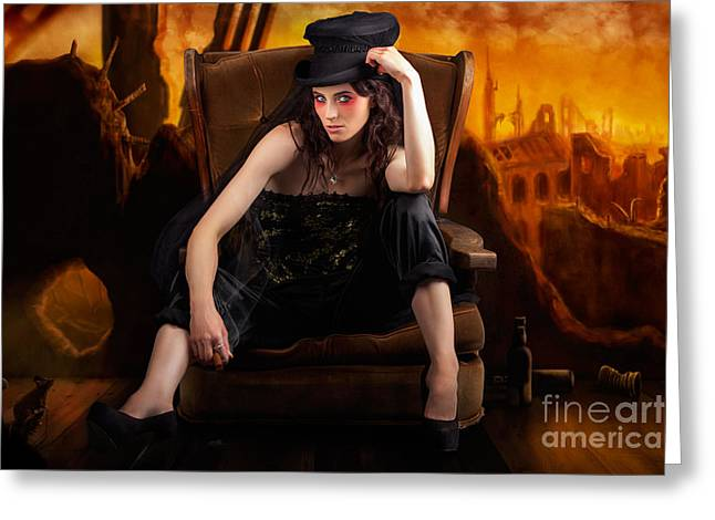 Creative Underground Fashion Photo Illustration Greeting Card