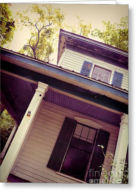 Creepy Old House Greeting Card by Jill Battaglia