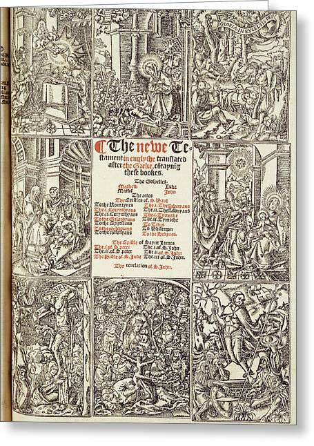 Cromwell's Bible Greeting Card by British Library
