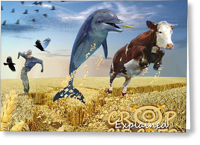 Crop Circles Explained Greeting Card by Douglas Martin