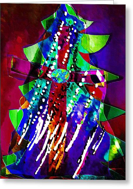 Cross Christmas Tree Greeting Card