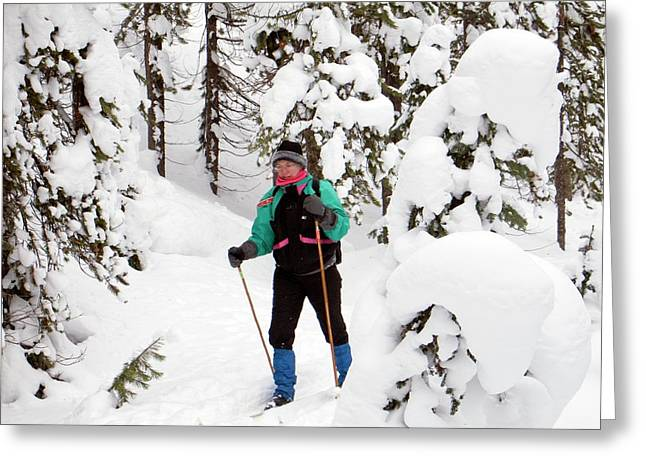 Cross-country Skier Greeting Card