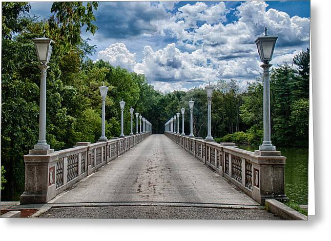 Crossing Over Greeting Card by Mike Burgquist