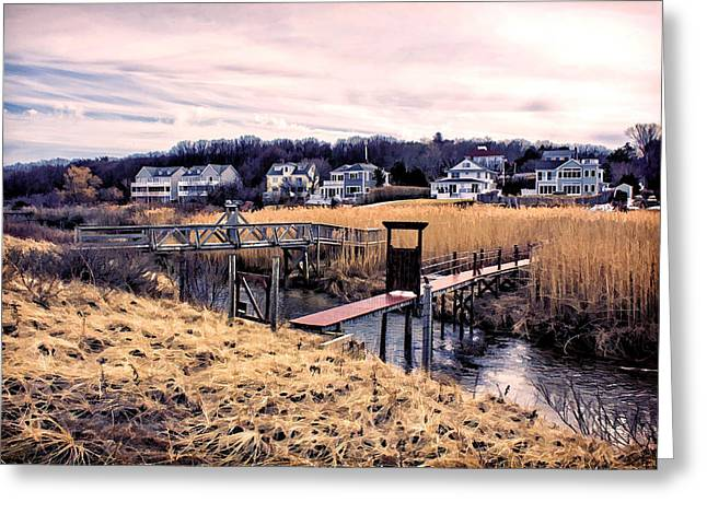 Crossing The Eel River  Greeting Card by Constantine Gregory
