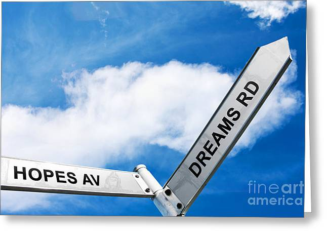 Crossroads Of Hopes And Dreams Greeting Card
