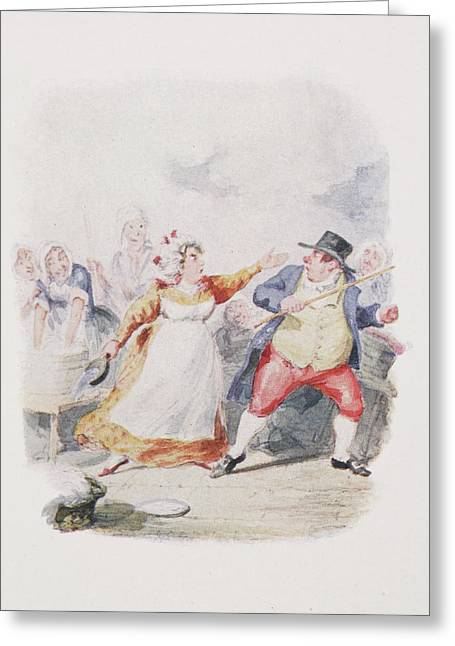Cruikshank's Water Colours Greeting Card by British Library