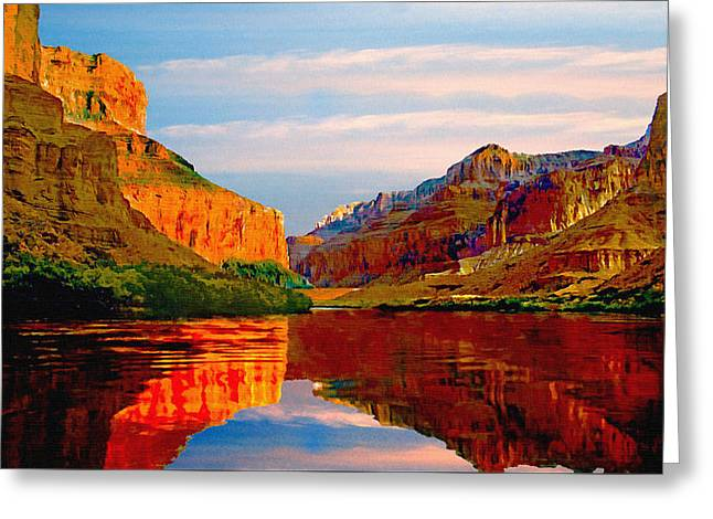Cruising Down The River On A Sunday Afternoon Greeting Card by Bob and Nadine Johnston