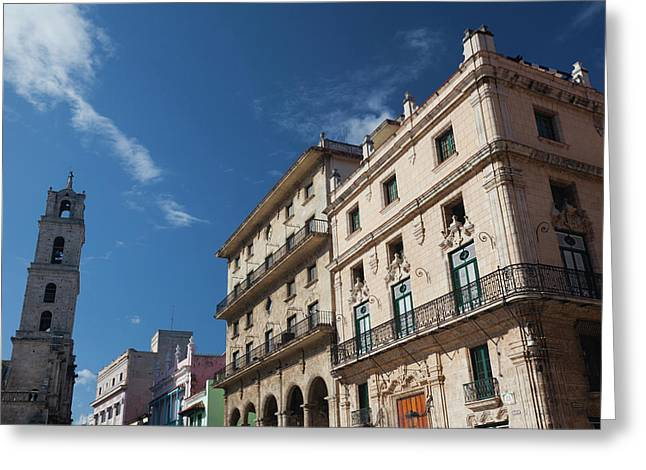 Cuba, Havana, Havana Vieja, Plaza De Greeting Card