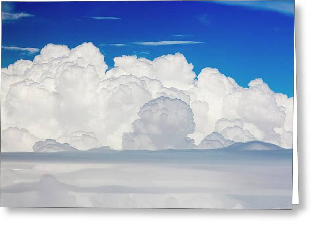Cumulonimbus Cloud Seen From An Airplane Greeting Card by Ashley Cooper