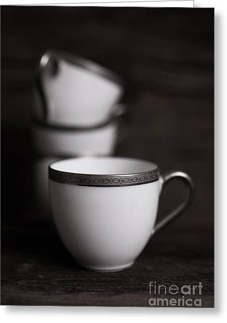 Cup Of Tea Greeting Card by Edward Fielding