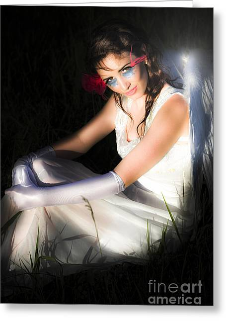 Cupid The Angel Of Love Greeting Card by Jorgo Photography - Wall Art Gallery