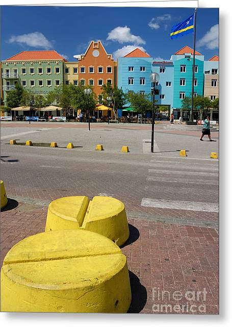 Curacaos Colorful Architecture Greeting Card