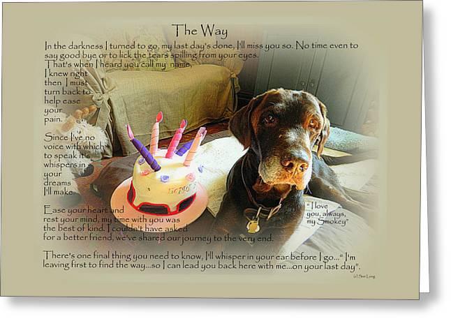 Custom Paw Print Smokey   Greeting Card by Sue Long