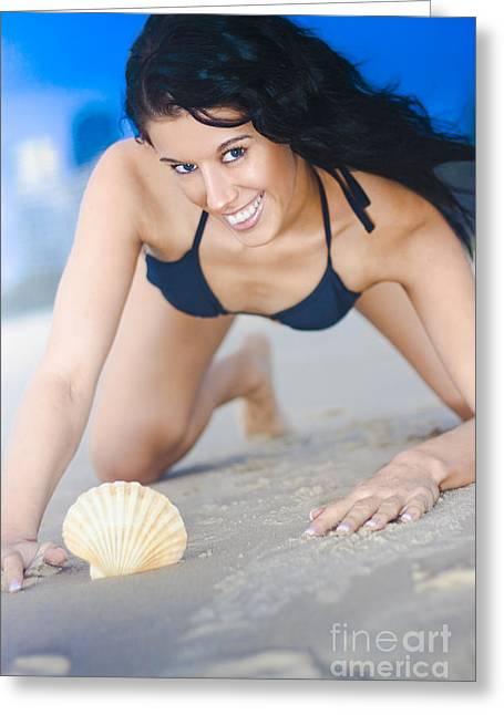 Cute Sand Woman Greeting Card