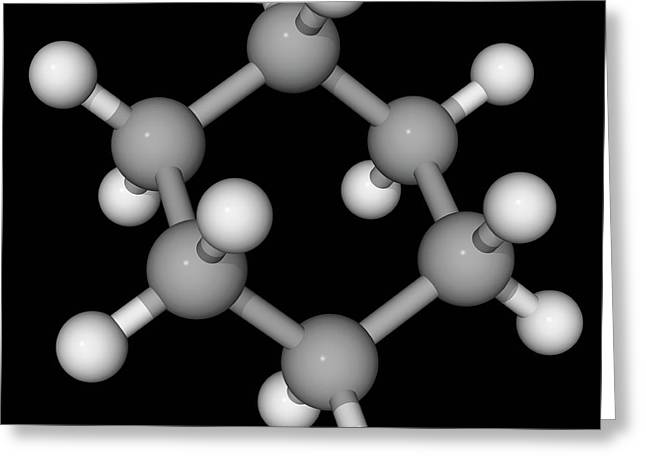 Cyclohexane Molecule Greeting Card by Laguna Design/science Photo Library