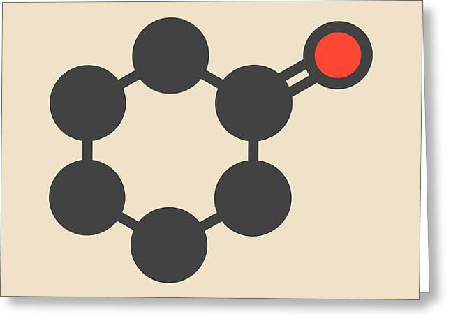 Cyclohexanone Organic Solvent Molecule Greeting Card by Molekuul