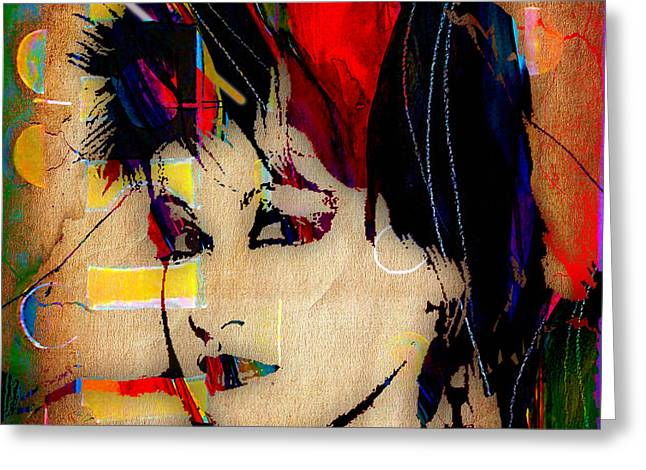 Cyndi Lauper Collection Greeting Card by Marvin Blaine