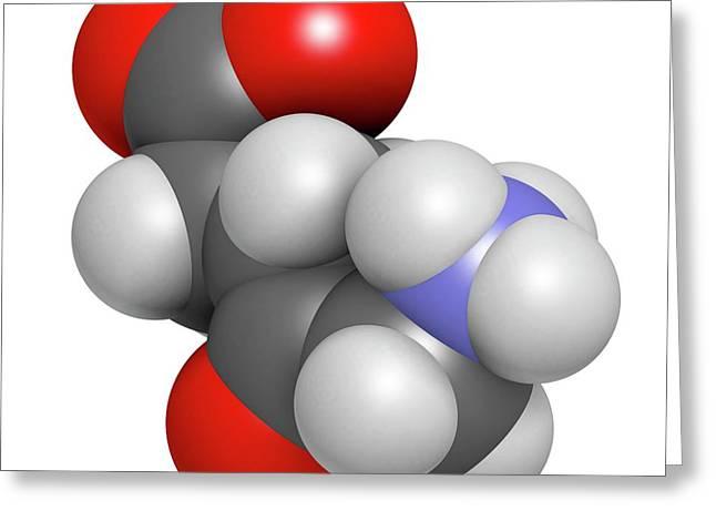 D-aminolevulinic Acid Ala Drug Molecule Greeting Card