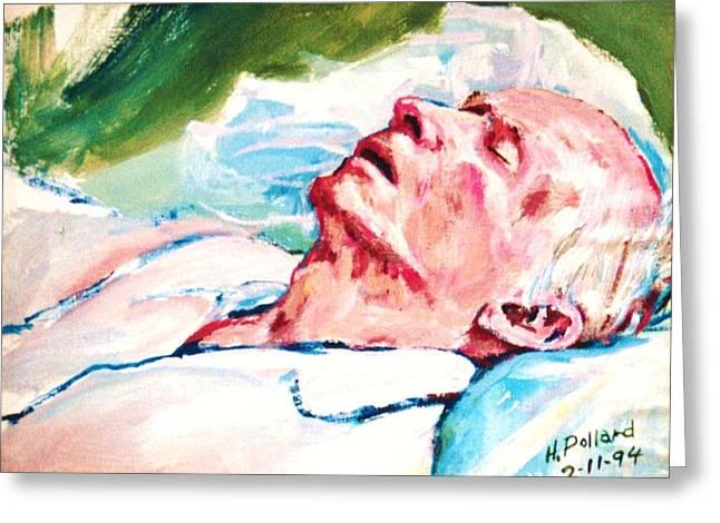 Dad Dying Greeting Card by Herschel Pollard