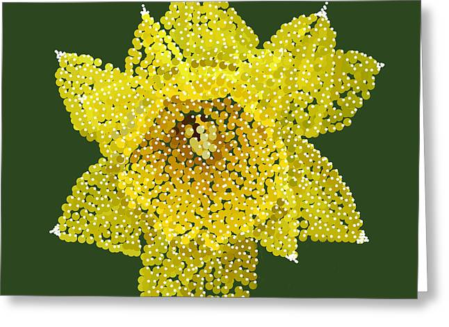 Daffodil Bedazzled Greeting Card by R  Allen Swezey