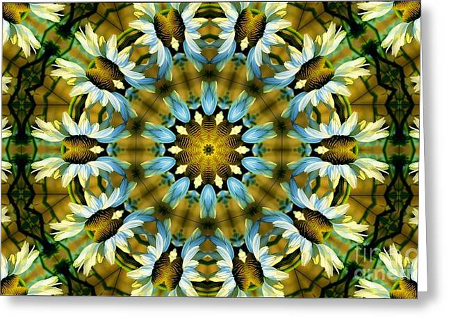Kaleidoscope Daisy Mae Greeting Card