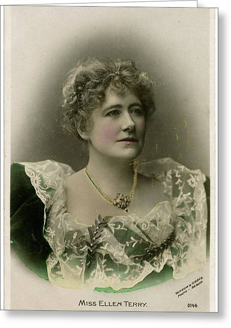 Dame Ellen Alice Terry (1847 - 1928) Greeting Card by Mary Evans Picture Library