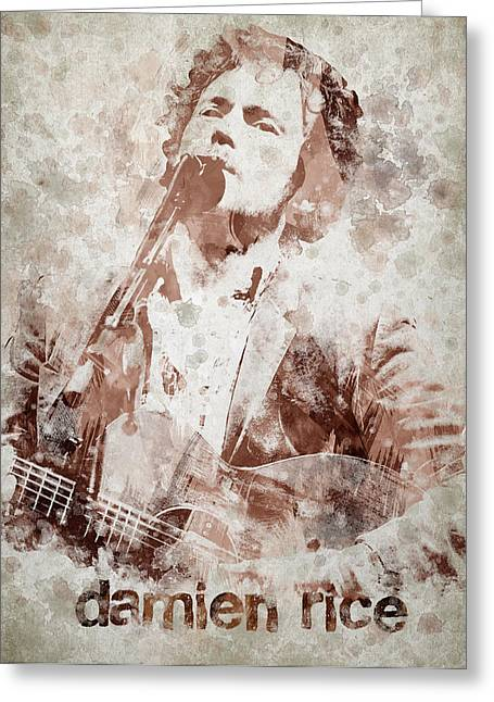 Damien Rice Portrait Greeting Card