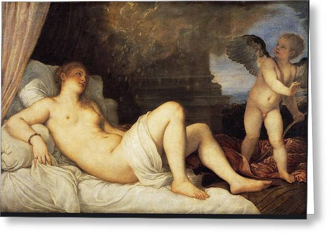 Danae Greeting Card by Titian