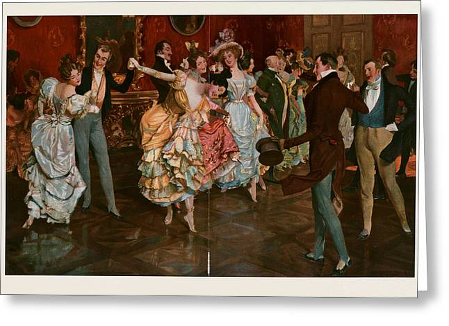 Dance. Dancing, Dancer, Young, Motion, Female, Male Greeting Card