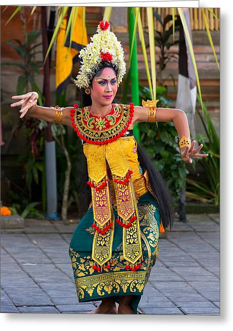 Greeting Card featuring the photograph Dancer - Bali by Matthew Onheiber