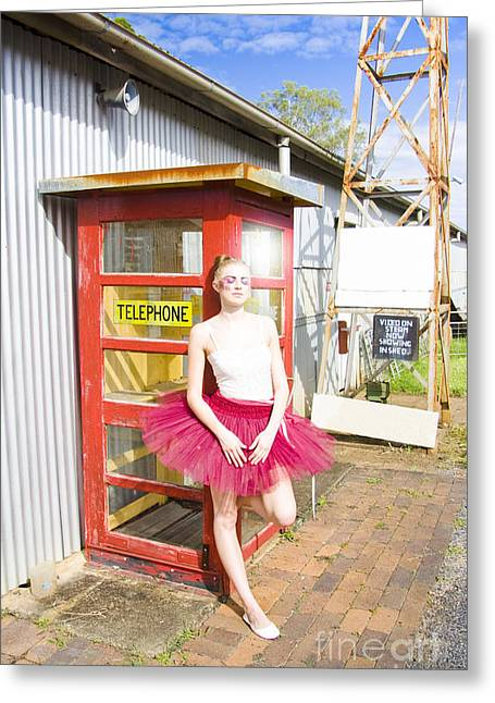 Dancer And Telephone Box Greeting Card