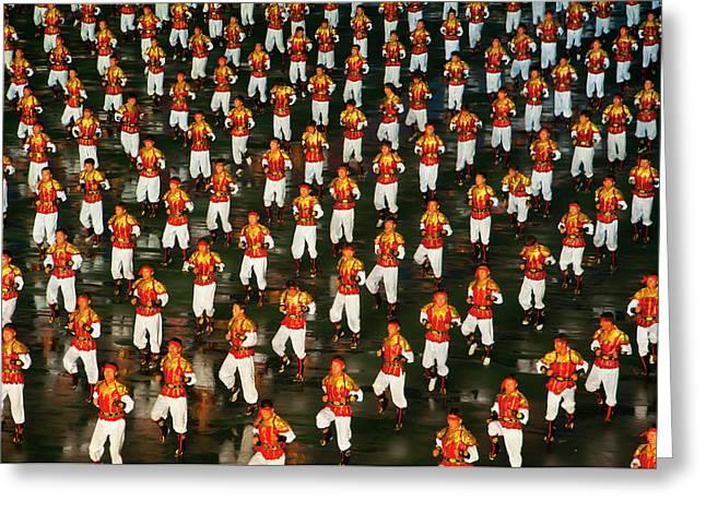 Dancers And Acrobats At Arirang Greeting Card