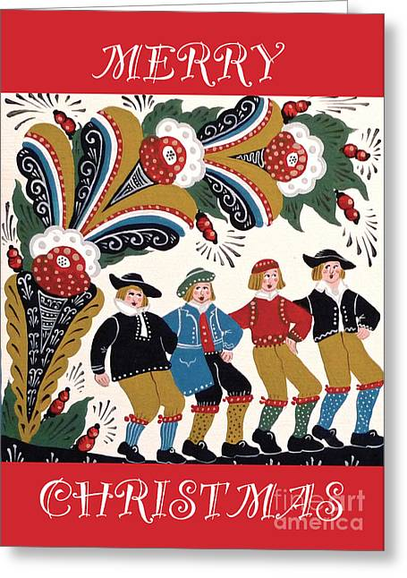 Dancing Men Greeting Card by Leif Sodergren