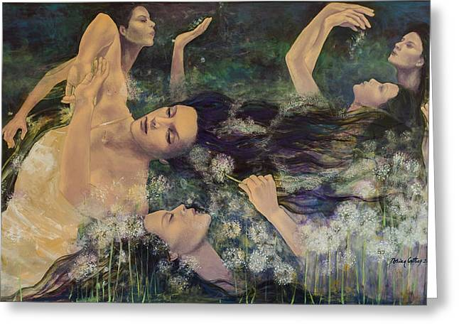 Dandelions Greeting Card by Dorina  Costras