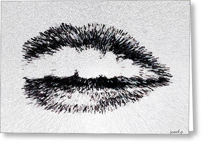 Dangerous Lips Greeting Card by Sir Josef - Social Critic - ART