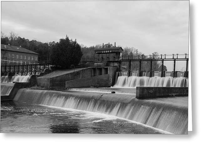 Daniel Pratt Cotton Mill Dam Prattville Alabama Greeting Card