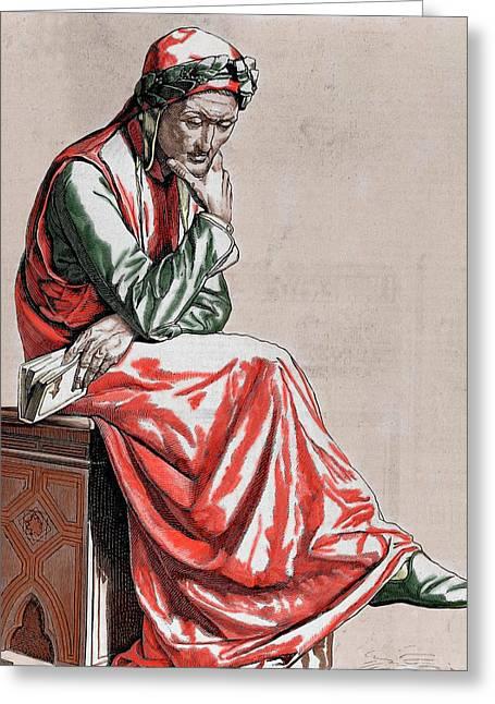 Dante Alighieri (1265-1321 Greeting Card by Prisma Archivo