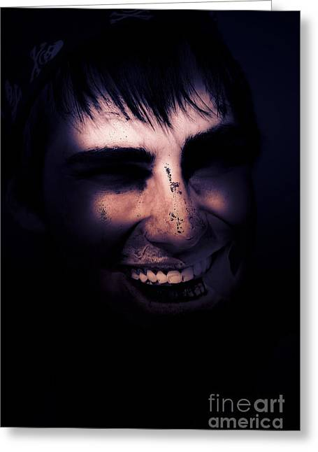 Dark Creepy And Spooky Undead Pirate Greeting Card by Jorgo Photography - Wall Art Gallery