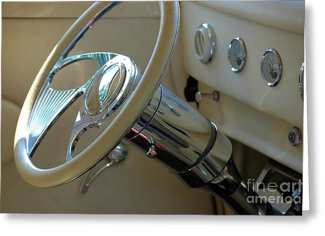 Greeting Card featuring the photograph Dashboard Glam by Christiane Hellner-OBrien
