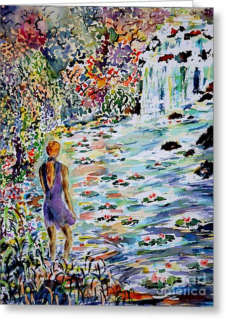 Daughter Of The River Greeting Card by Alfred Motzer