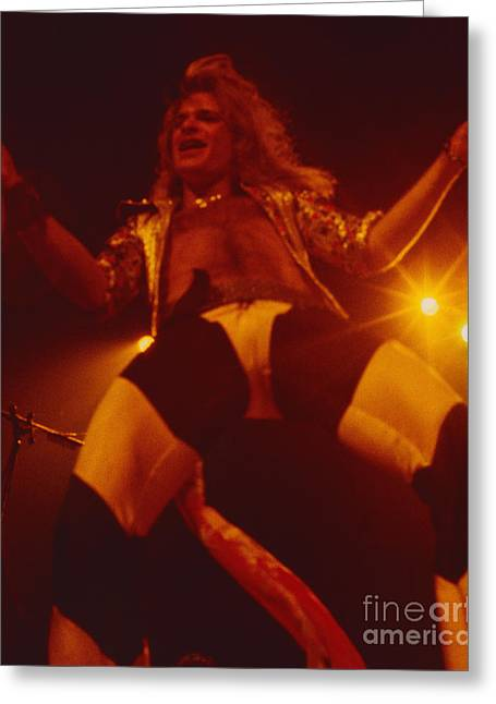 David Lee Roth - Van Halen At The Oakland Coliseum 12-2-1978 Rare Unreleased Greeting Card