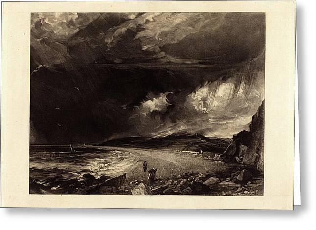 David Lucas After John Constable, British 1802-1881 Greeting Card
