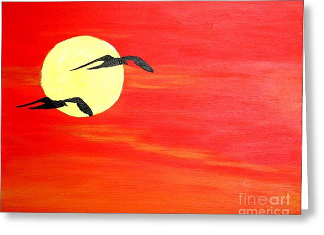 Dawn Patrol Greeting Card by Bill Hubbard