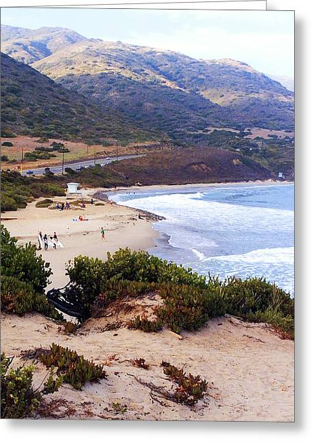 Day At The Beach Greeting Card by Ron Regalado