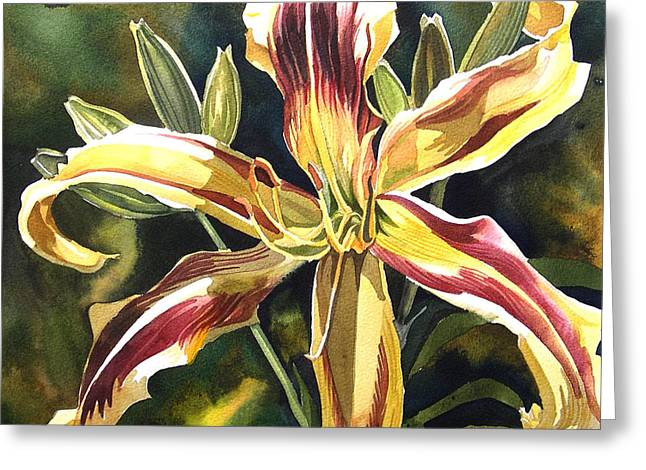 Day Lily Greeting Card by Alfred Ng