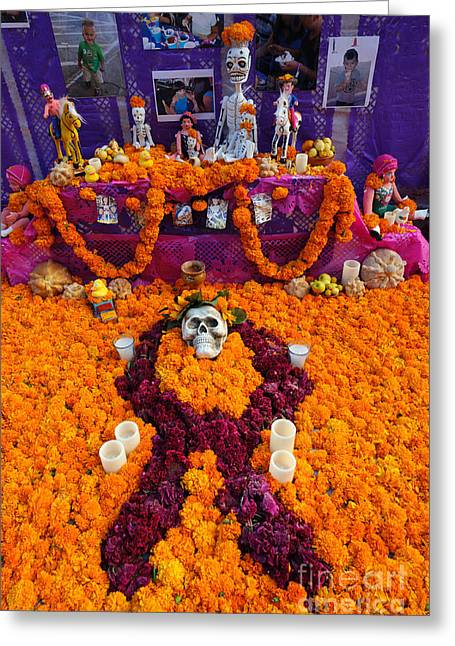 Day Of The Dead Altar, Mexico Greeting Card by John Shaw